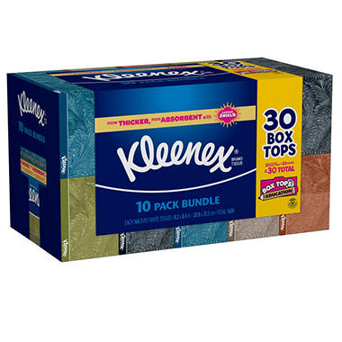 Kleenex Facial Tissue - 10 boxes - 160 ct. each