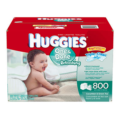 Huggies One & Done Refreshing Baby Wipes (800 ct.)