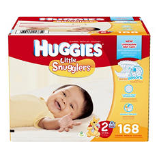 Huggies Little Snugglers Diapers, Size 2 (168 ct.)