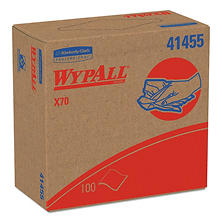 WypAll* - X70 Wipers, POP-UP Box, 9 1/10 x 16 4/5, White, 100/Box -  10 Boxes/Carton