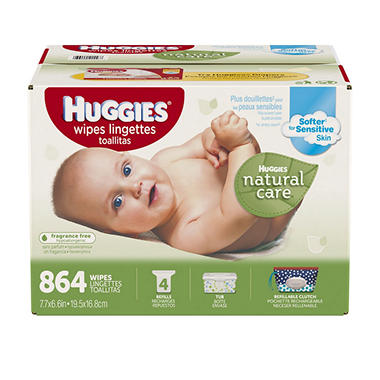Huggies Natural Care Baby Wipes, Refill (864 ct.)