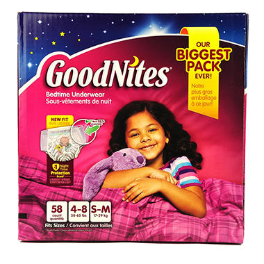 GoodNites Bedtime Underwear Girls (Choose Your Size)