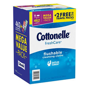 Kleenex Cottonelle FreshCare Flushable Cleansing Cloths (11 pk., 42 ct.)