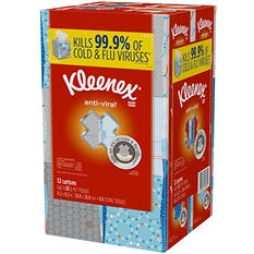 Kleenex Anti-Viral 3-Ply Facial Tissue (12 pk.)