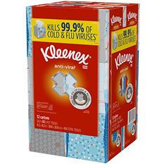 Kleenex Anti-Viral 3-Ply Facial Tissue (12 pk.)