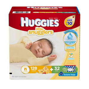 Huggies Little Snugglers Newborn Kit, N to 10 lbs. (128 ct.)
