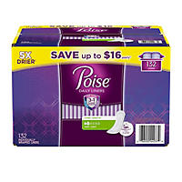 Poise Very Light Absorbency Liner, Long (132 ct.)