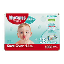Huggies One & Done Refreshing Baby Wipes, Scented (1,008 ct.)