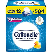 Cottonelle Flushable Wipes (504 ct.)