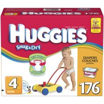 Huggies - Snug & Dry Diapers, Step 4 (22-37 lbs.), 176 ct.