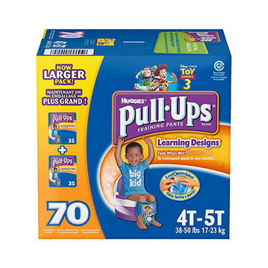 Huggies Pull-Ups Training Pants for Boys, 4T-5T (38+ lbs.), 70ct.