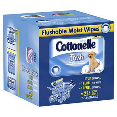 Cottonelle Fresh� Flushable Moist Wipes - 224 ct.