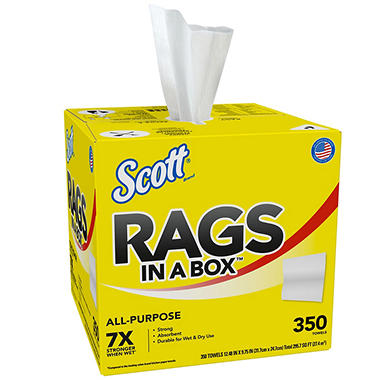 SCOTT® Rags In A Box - 350 ct.