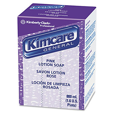 Kimcare Pink Lotion Liquid Soap Refill - 800 mL Bag