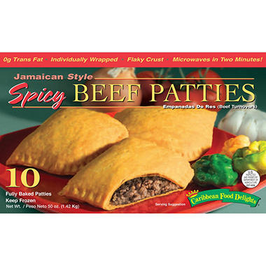 Caribbean Food Delights Beef Patties - 10ct