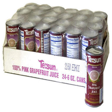 Texsun® Pink Grapefruit Juice - 24/6 oz. cans