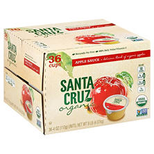 Santa Cruz Organic Apple Sauce Cups (36 ct., 4 oz. ea.)