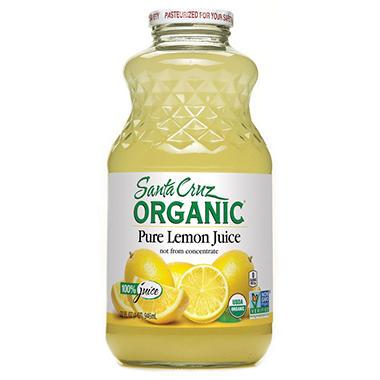 Santa Cruz Organic 100% Lemon Juice (32 oz.)