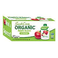 Santa Cruz Organic Apple Sauce Pouches (15 ct., 3.2 oz. ea.)
