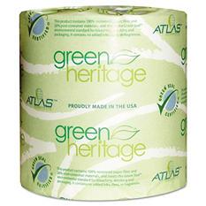 Atlas Paper Mills - Green Heritage Bathroom Tissue, 1-Ply, 1000 Sheets/Roll -  96 Rolls/Carton