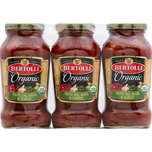 Bertolli® Organic Pasta Sauce - 3/24 oz. jars