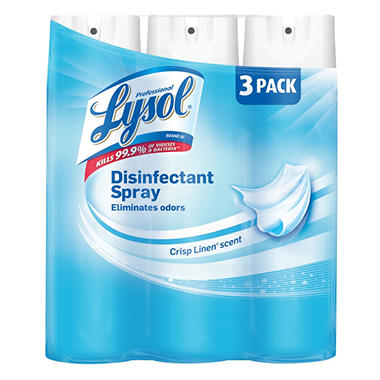 Lysol Disinfectant Spray - Crisp Linen Scent - 19 oz. - 3 pk.