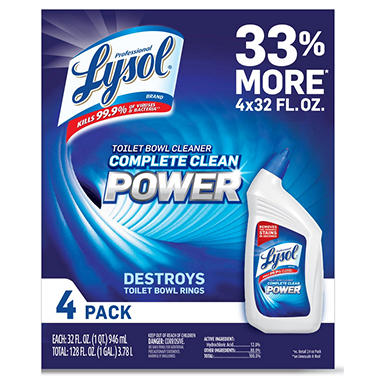 Lysol Professional Toilet Bowl Cleaner, Original (32oz.,4pk.)