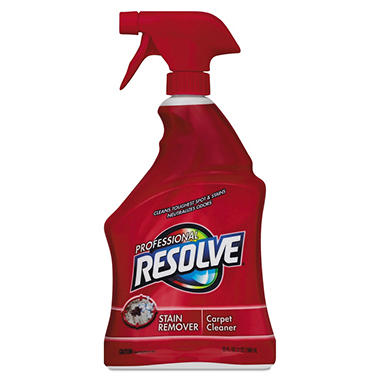 Professional Resolve- Carpet Cleaner, 32oz Spray Bottles -  12/Carton