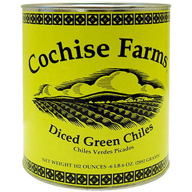 Cochise Farms Diced Green Chiles - 102oz
