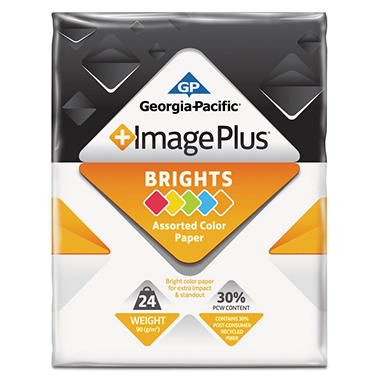 GP - Image Plus, Brights Paper, 24 lb.,  8-1/2? x 11?, 1 Ream - 500 Sheets