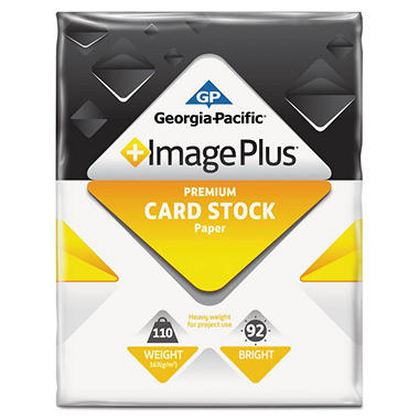 GP - Image Plus, Card Stock Paper, 110 lb.,  8-1/2? x 11?, 1 Pack - 250 Sheets