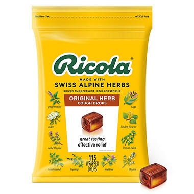 Ricola Original Natural Herb Cough Drops - 130 ct.