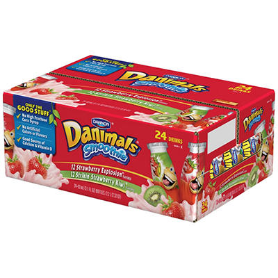 Dannon™ Danimals® Drinkable Variety - 3.1 oz. - 24 ct.