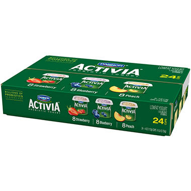 Dannon Activia Yogurt Pack - 4 oz. - 24 ct.