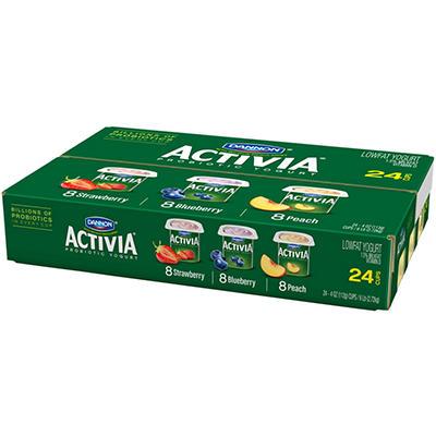Dannon Activia Yogurt Pack - 4 oz. - 24 ct.