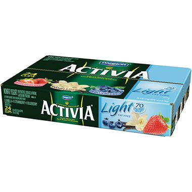 Dannon® Activia® Light Yogurt Variety Pack - 4 oz. - 24 ct.