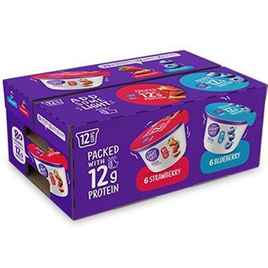 Dannon Light & Fit Greek Nonfat Yogurt Variety Pack - 3.9 lbs. - 12 ct.