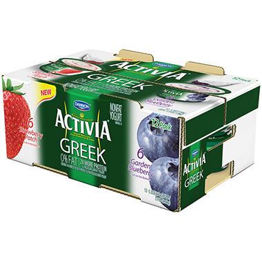 Dannon Activia Greek Nonfat Yogurt - 12 pk.