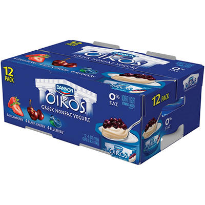 Oikos 0% Fat Greek Yogurt - 12 ct.