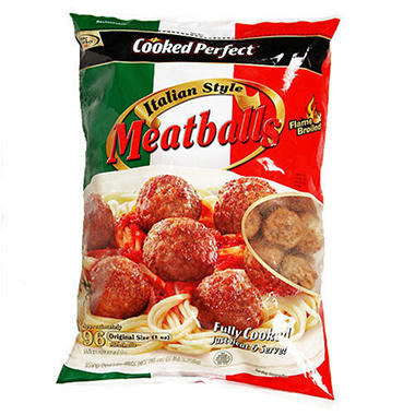 Cooked Perfect? Italian Style Meatballs - 96 oz.