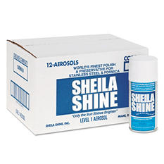 Sheila Shine - Stainless Steel Cleaner & Polish, 10oz Aerosol -  12/Carton
