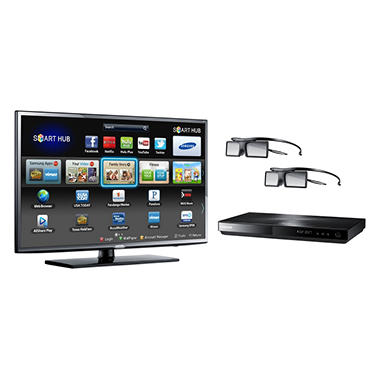 "46"" Samsung 3D LED 1080p CMR 240 HDTV w/ 3D Blu-ray Player"