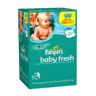 Pampers Baby Fresh Wipes 770 Ct Sam S Club