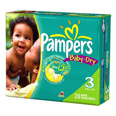 Pampers Baby Dry, Size 3 (16-28 lbs.), 112 ct.