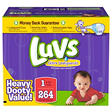 Luvs Ultra Leakguard Diapers, Size 1 (8-14 lbs), 264 ct.