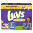 Luvs Ultra Leakguard Diapers, Size 4 (22-37 lbs.), 180ct.