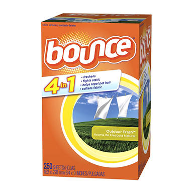 Bounce Renewing Freshness Fabric Softener Sheets - 250 ct.
