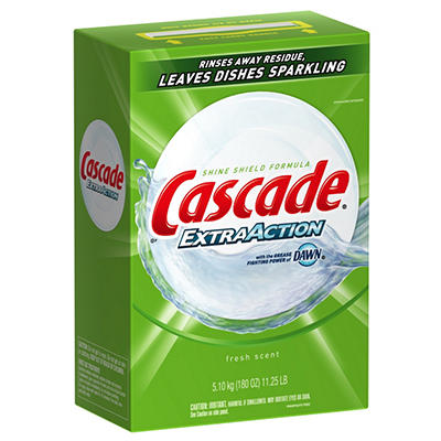 Cascade Dish Detergent - Extra Action Powder - 11.25 lbs.