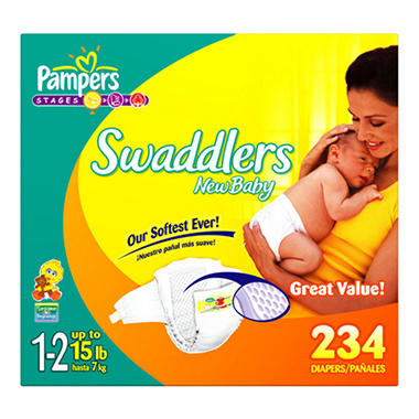 Pampers Swaddlers Diapers, Size 1, CT CT, lbs. Item # Wrap your baby in Pampers Swaddlers diapers, our most trusted comfort and .
