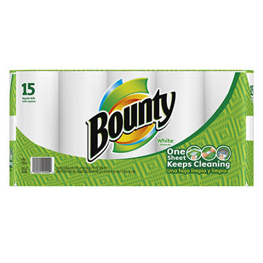 Bounty Paper Towels - White - 15 pk.